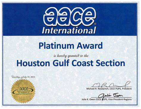 Coast Section by Aacei Hgcs Houston Gulf Coast Section Achieves The