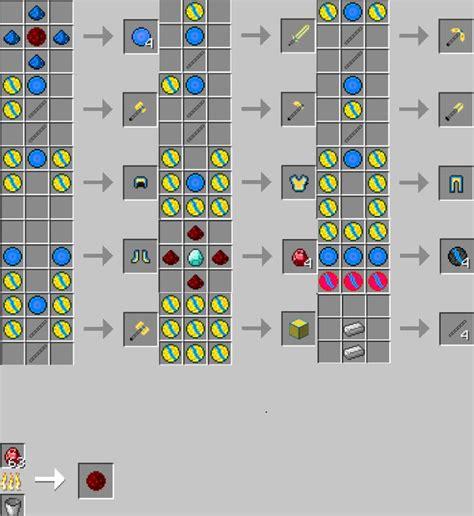 Minecraft Crafting List Printable
