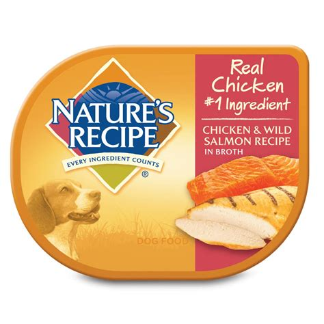 nature s recipe puppy food nature s recipe food trays chicken salmon petco