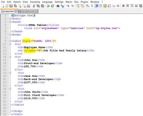 tutorial on html tables 10 various ways to do html table css style colspan html