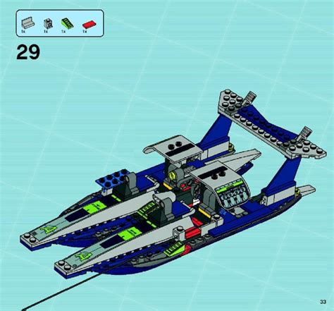 speedboat lego lego speedboat rescue instructions 8633 agents