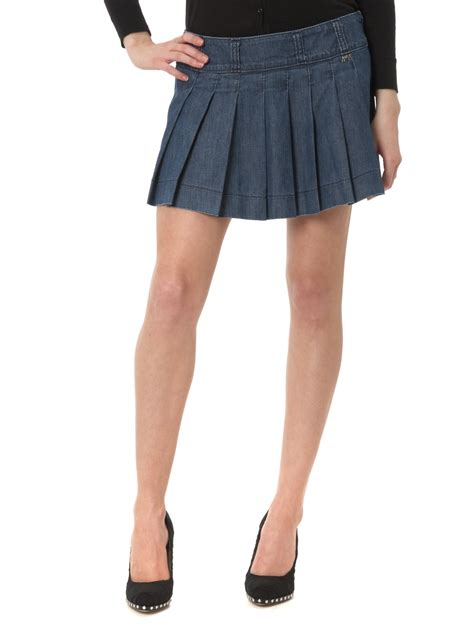 miss sixty lyn denim pleated skirt review compare