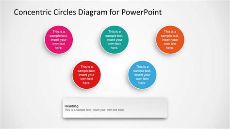 Concentric Circles Diagram Template For Powerpoint Concentric Circles Powerpoint Template