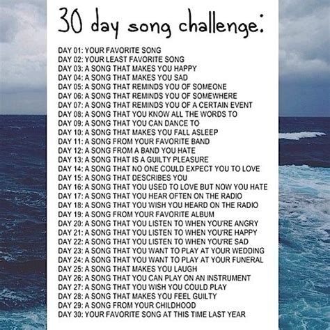day songs 8tracks radio 30 day song challenge 21 songs free