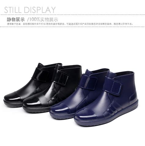 mens ankle rubber boots mens clarity waterproof ankle rubber boots blue