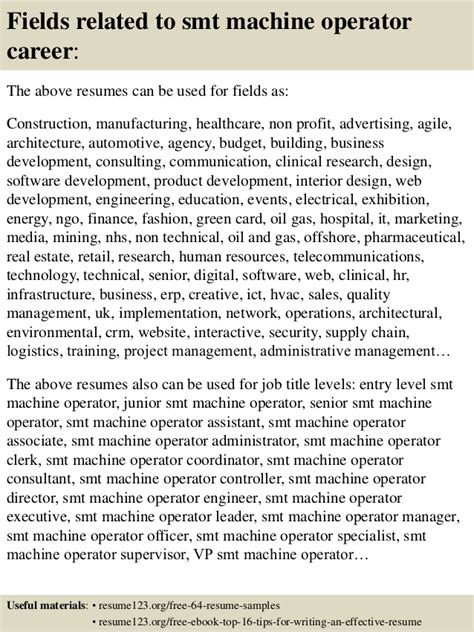 smt operator resume top 8 smt machine operator resume sles