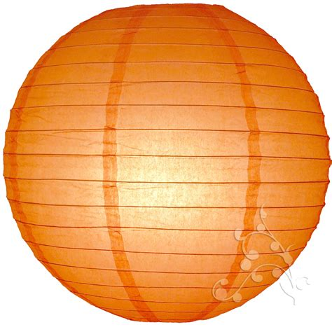 How To Make Circle Paper Lanterns - 12 inch orange paper lantern