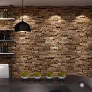 Home Stones Decoration Stone Effect Wallpaper For The Expressive Room Performance