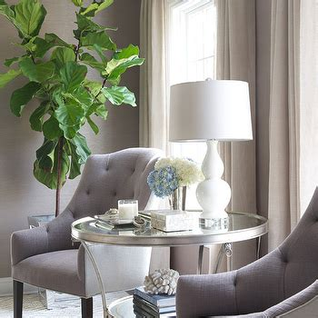 Accent Table Decor Swivel Silver Accent Table
