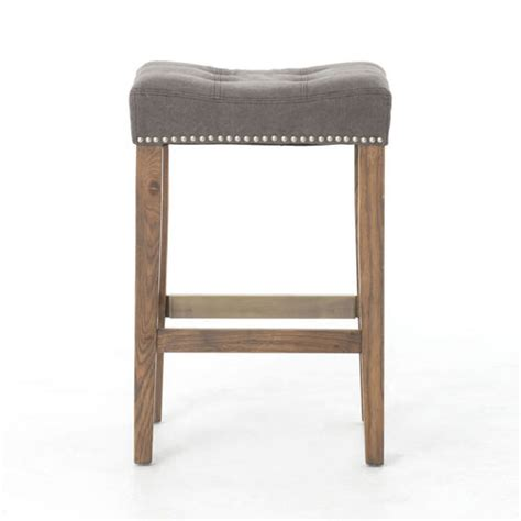 Tufted Nailhead Bar Stools by Ashford Grey Tufted Nailhead Bar Stool Zin Home