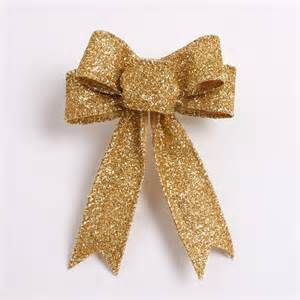 gold silver christmas tree garland bow 20 pcs lot
