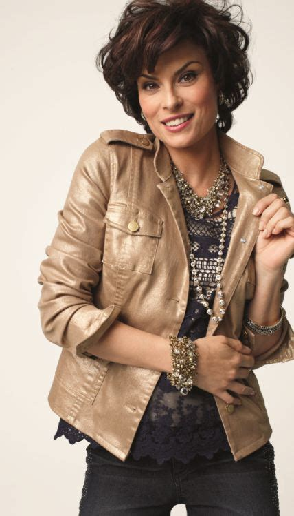 short black hair model from chico clothing feminine shine utility jacket fall lookbook chicos