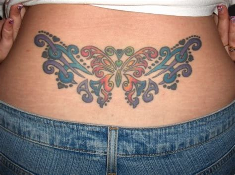 lower back butterfly tattoo designs designs lower back tattoos