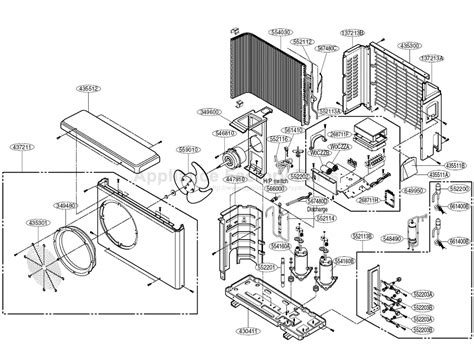 parts of an air conditioner diagram lg a mmh18fa 1 parts air conditioners