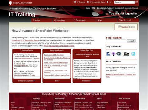 tutorial video website introducing the new it training website a screenshot tour
