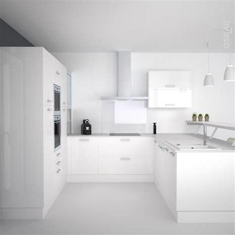 cuisine toute blanche cuisine blanche moderne fa 231 ade stecia blanc brillant