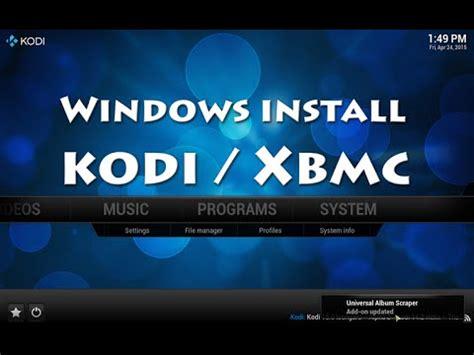 download youtube xbmc how to install xbmc kodi on windows 10 8 1 8 7 pc