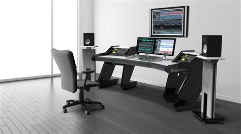 home studio workstation desk recording studio furniture workstation studio design