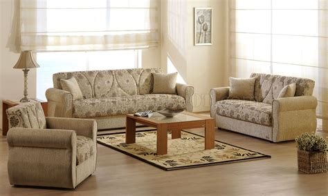 Beige Living Room Furniture by Melody Yasemin Sleeper Sofa In Beige Chenille By Sunset