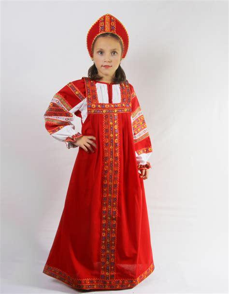russian traditional slavic dress dunyasha for girls by