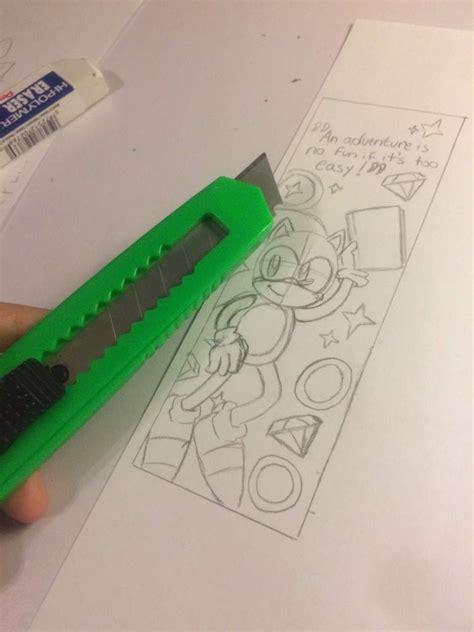 hedgehog bookmarks let s make sonic the hedgehog bookmark e a s y part