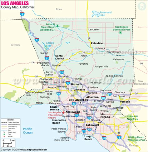 La County Search By Name Buy Los Angeles County Map