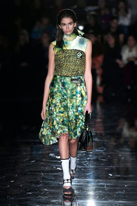 kaia gerber prada kaia gerber at prada show at milan fashion week 02 22 2018