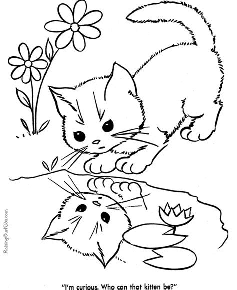printable cat pictures coloring home