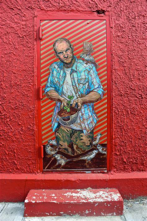 street art  graffiti  nyc doors  elbow toe rae