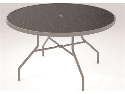 Tropitone Patio Table Tropitone Hpl Raduno Aluminum 48 Dining Umbrella Table 647nhu