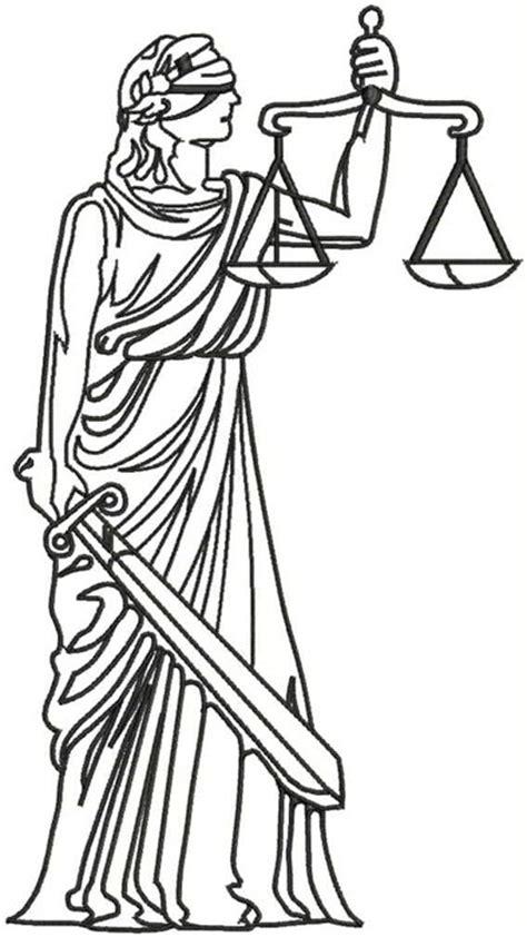 imagenes de justicia social para colorear estatua que representa a la justicia en formato emb