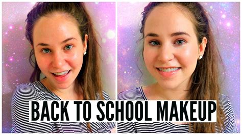 natural makeup tutorial acne acne coverage no makeup makeup tutorial for school