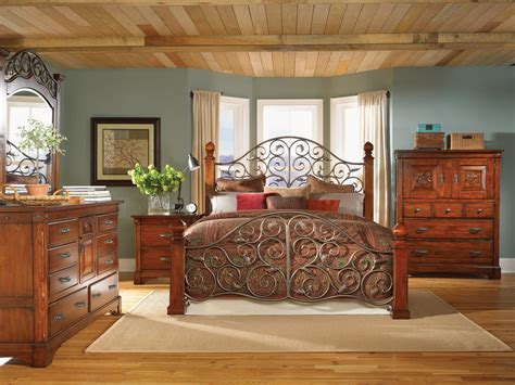 mahogany bedroom furniture 4 post bed solid wood bed 7637