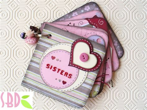 scrapbook tutorial videos scrapbooking tutorial mini album sisters qualche trucco