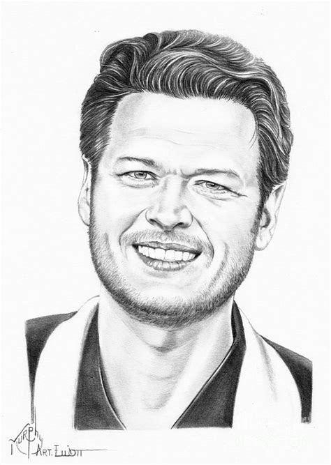 Kid Duvet Blake Shelton Drawing By Murphy Elliott