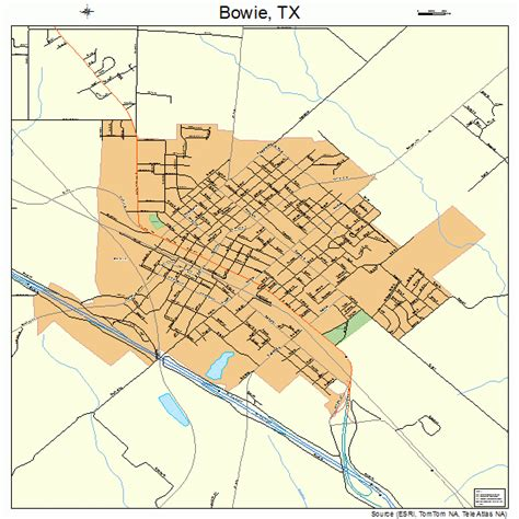 where is bowie texas on a map bowie texas map 4809640
