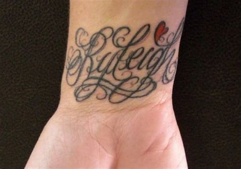 word design tattoos 35 graceful name tattoos for your wrist