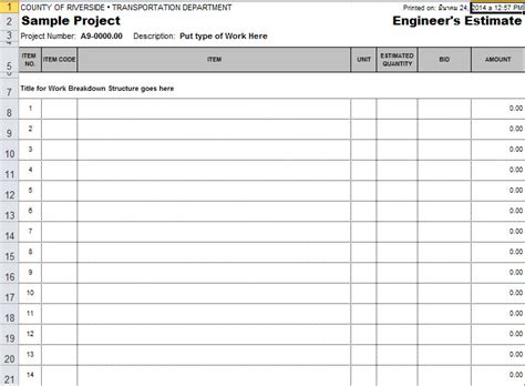 microsoft excel estimate template estimate template in excel