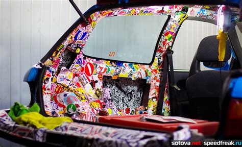 How To Sticker Bomb Car Interior 70 Epic Sticker Bomb Examples
