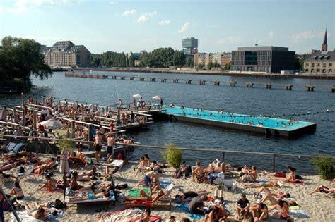 badeschiff  floating swimming pool  berlin amusing