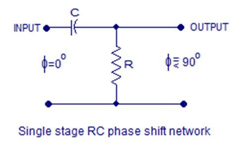 capacitor resistor phase shift transistor phase shift oscillator rc phase shift network and rc phase shift oscillator using opap