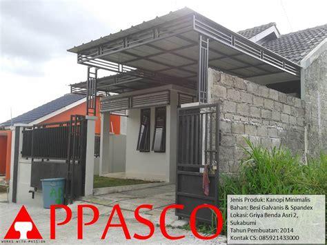 Kanopi Atap Minimalis jual kanopi minimalis bahan besi galvanis atap spandek jasa konstruksi