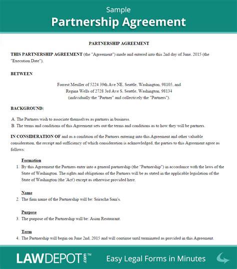 Partnership Agreement Form Partnership Agreement
