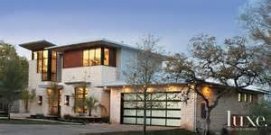 Contemporary Craftsman House Modern Limestone Front Exterior Luxe Interiors Design