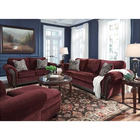 burgundy living room furniture 8810238 ashley furniture chesterbrook burgundy living