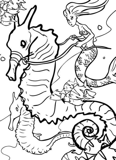 mermaids coloring book an aquatic adventure books free h20 just add water coloring pages