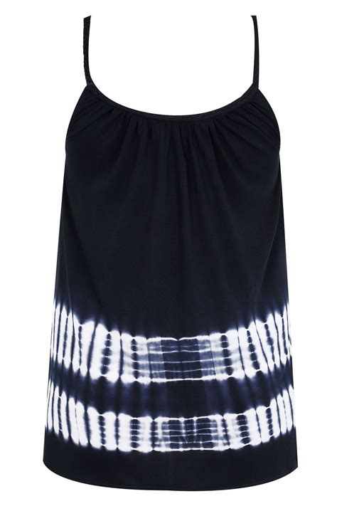 swing tie navy white tie dye swing vest with plaited straps plus