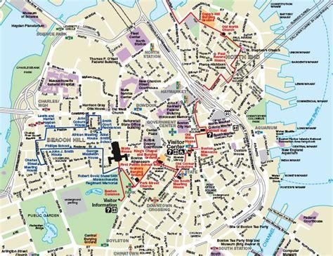 printable map boston printable map of boston explore boston walking tours