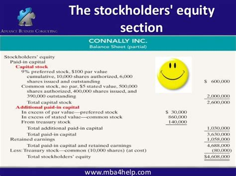 Stockholders Equity Section by Accounting 500 2
