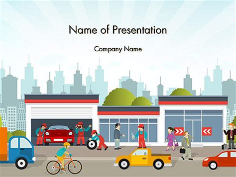 Cars And Transportation Powerpoint Presentation Templates And Backgrounds Poweredtemplate Com Powerpoint Templates Transportation